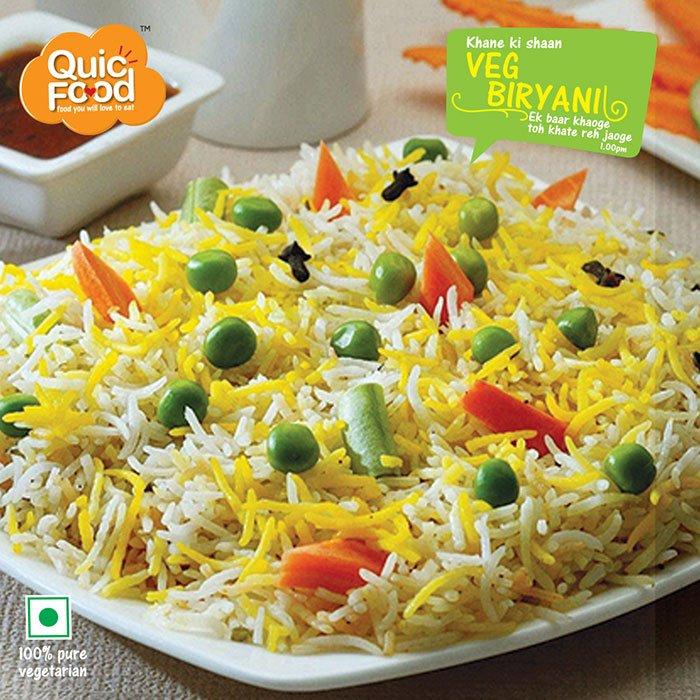 Muglai veg biryani ready to eat food pack | India's best ...